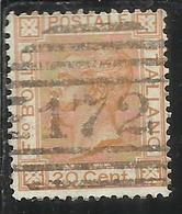 ITALIA REGNO ITALY KINGDOM 1877  VITTORIO EMANUELE II CENT. 20c USATO USED OBLITERE' - 1861-78 Vittorio Emanuele II