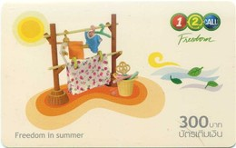 Mobilecard Thailand - 12Call -  Freedom In Summer - Spielzeug (4) - Tadschikistan