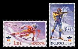 Moldova 2010 Mih. 689/90 Olympic Winter Games In Vancouver. Alpine Skiing. Biathlon MNH ** - Moldavia