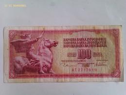 Billete Yugoslavia. 100 Dinares. 1978 - Yugoslavia