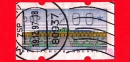 GERMANIA - Usato - Rep. Federale - 1993 - Castello Sanssouci - Etichette ATM -  200 - Distribuidores