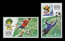 Moldova 2010 Mih. 706/07 Football. FIFA World Cup In South Africa MNH ** - Moldawien (Moldau)