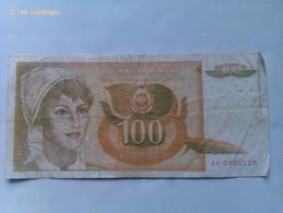 Billete Yugoslavia. 100 Dinares. 1990 - Yugoslavia
