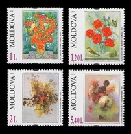 Moldova 2010 Mih. 709/12 Flora. Flowers In Painting MNH ** - Moldavië