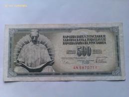 Billete Yugoslavia. 500 Dinares. 1978 - Yugoslavia