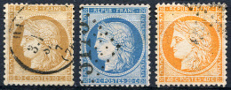 FRANCE Republic 1870 - Yv.36-38 (Mi.33-35) 1st Selection (all Perfect) - 1870 Siege Of Paris