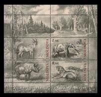Moldova 2010 Mih. 723/26 (Bl.51) Fauna. Prehistoric Animals MNH ** - Moldawien (Moldau)