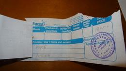 Bus Ticket From MACEDONIA - Skopje - Airport - Fahrkarte - Transportation