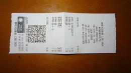 Bus Ticket From MACEDONIA - Ochrid - Fahrkarte - Transportation