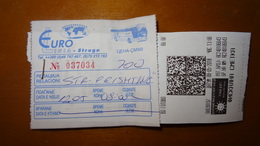 Bus Ticket From MACEDONIA And KOSOVO - Struga To Pristhina - Fahrkarte - Transports