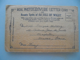 Real Photogravure Letter Card Of Beauty Spots Of The Isle Of Wight - Angleterre