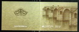 Europa CEPT 2018 BULGARIA Bridges - Fine Booklet MNH - 2018