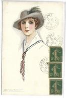 Portrait De FEMME - Illustrateur MAUZAN - 229-3 - Mauzan, L.A.