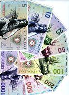 SET, Kuninganna, 5;10;25;50;100;200;500;1000 Fusto, Private Issue, 2015, UNC - Billets