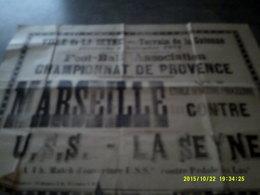 13 MARSEILLE AFFICHE SPORT FOOT BALL LA SEYNE VAR PROVENCE - Affiches