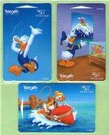 New Zealand - 1997 Disney - Donald Duck III Set (3) - NZ-D-104/106 - Mint - New Zealand