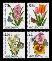 Moldova 2011 Mih. 751/54 Definitive Issue. Flowers MNH ** - Moldova