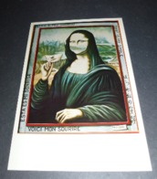 "Carte Postale - Mona Lisa - La Joconde - Mathelin ""Voici Mon Sourire"" - Publicidad"