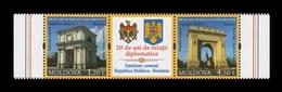 Moldova 2011 Mih. 769/70 Triumphal Archs (with Label) (joint Issue Moldova-Romania) MNH ** - Moldavië