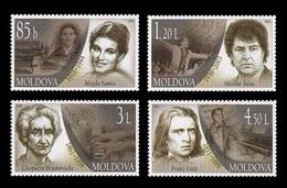 Moldova 2011 Mih. 779/82 Cultural Figures. Literature. Music. Isanos. Sulac. Hrsanovschi. Liszt MNH ** - Moldova