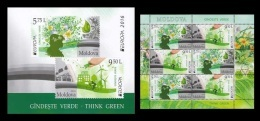 Moldova 2016 Mih. 948/49 Europa-Cept. Think Green (booklet) MNH ** - Moldavië