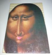 "Carte Postale - Mona Lisa - La Joconde - Raffaele Pellizzari : ""Le Baiser De La Joconde"" - Publicidad"