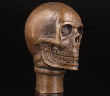 POMMEAU DE CANNE TETE DE MORT - Asian Art