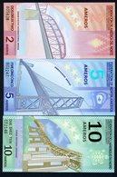SET Federation Of North America, 2;5;10 Ameros, 2011, Polymer, UNC, Bridges - Billets