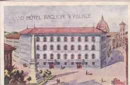 GRAND HOTEL BAGLIONI & PALACE. FLORENCE. EDIZ FIAR. ITALIA-BLEUP - Hotel's & Restaurants