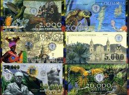 POLYMER SET El Club De La Moneda 1000;2000;5000;10000;20000;50000 2013 Colombia - Andere