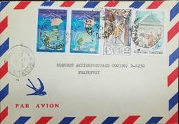 O) 1978 TUNISIA, MOURADITE MAUSOLEUM SC A202, SPONGE FISHING AT JERBA SC A197, HORSE, TO FRANKFUR - Tunisia