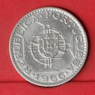 MOZAMBIQUE 20 ESCUDOS 1966 - 10 GRS - 0,680 SILVER    80a - (Nº22601) - Portugal