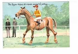 Illustrateur Louis Carriere Ton Tuyau Risque De Crever Avant Le Poteau CPM N°50376 CPM Cheval Course Courses PMU Jockey - Carrière, Louis