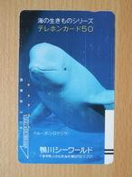 Japon Japan Free Front Bar, Balken Phonecard  / 110-7549 / Dolphin / !! Tamura Stripes !! - Japan