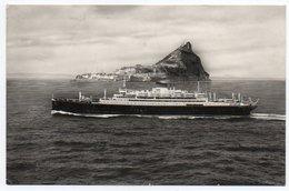 GIBRALTAR - M/N SATURNIA / SHIP / ITALIA SOCIETA' DI NAVIGAZIONE GENOVA - Gibilterra