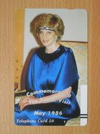 Japon Japan Free Front Bar, Balken Phonecard  / 110-7572 / Lady Diana - Personnages
