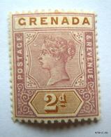 GRENADA 1895. Queen Victoria. 2d - Mauve And Brown. SG 50. MH - Grenada (...-1974)