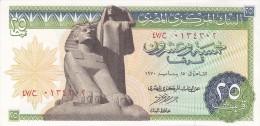 EGYPT 25 PT 1970 P-42 SIG/NAZMI #13 AU-UNC */* - Egypt