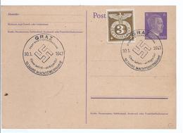 Ganzsache  Ergänzt - Mit Sonderstempel 1943 - Graz 10 Jahre Machtübernahme   -   (89924) - Lettres & Documents