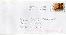 """2018 --  Timbre Adhésif   """" Petit Beurre De Nantes """" --seul Sur Lettre - Marcophilie (Lettres)"""