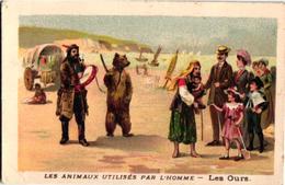 7 Chromo  Zigeunerleven Gitan Tziganes Gipsy Montreurs D'OURS Tanzbär Tamed Bear Pub. Stollwerck Chocolade - Oude Documenten