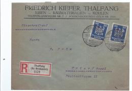 Frankatur R-Brief Einschreiben - Gelaufen Von Thalfang Nach Trier 1926    - (89933) - Sello Particular