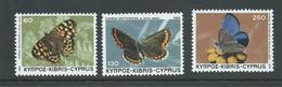 Cyprus 1983 Butterfly Set 3 MNH - Zypern (Republik)