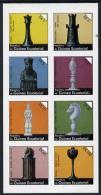 908 Equatorial Guinea 1976 Chessmen Imperf Set Of 8 (Mi 956-63B) Unmounted Mint - Chess