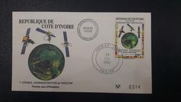 COTE D'IVOIRE IVORY COAST 1994 - RASCOM SATELLITE FLAGS ALGERIE ALGERIA - FDC - ULTRA RARE - Côte D'Ivoire (1960-...)