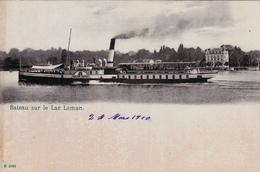 SUISSE,HELVETIA,SWISS,SWITZERLAND,SCHWEIZ,SVIZZERA,LAC LEMAN ,1910,VOILIER,BATEAU - Suisse