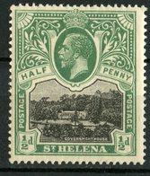 Saint Helena 1912 1/2p Government House Issue #61  MNH - Saint Helena Island