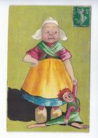 CPA Enfant Humoristique Bécassine Costume Sabot Jouet Pantin - Niños
