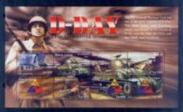 BOX-72 Sierra Leone 2015 World War II Tank Souvenir Sheet MNH - History
