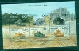 BOX-08 Tanzania 1999 Tank Souvenir MNH During World War II - History
